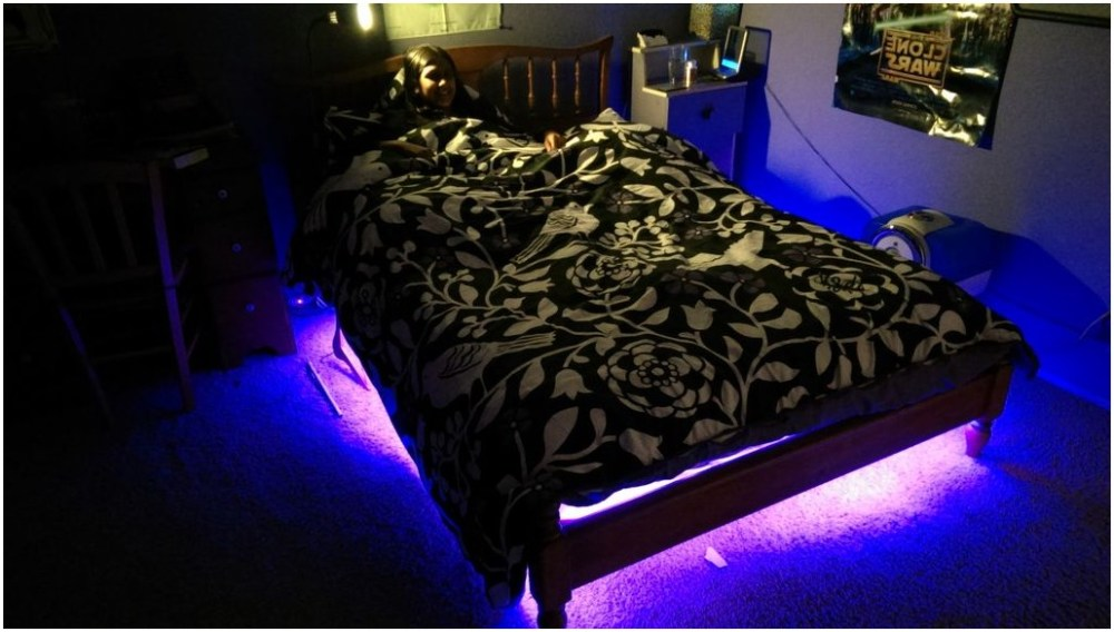 Pallet Bed Frame With Lights Diy