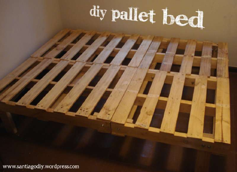 Pallet Bed Frame With Storage Instructions