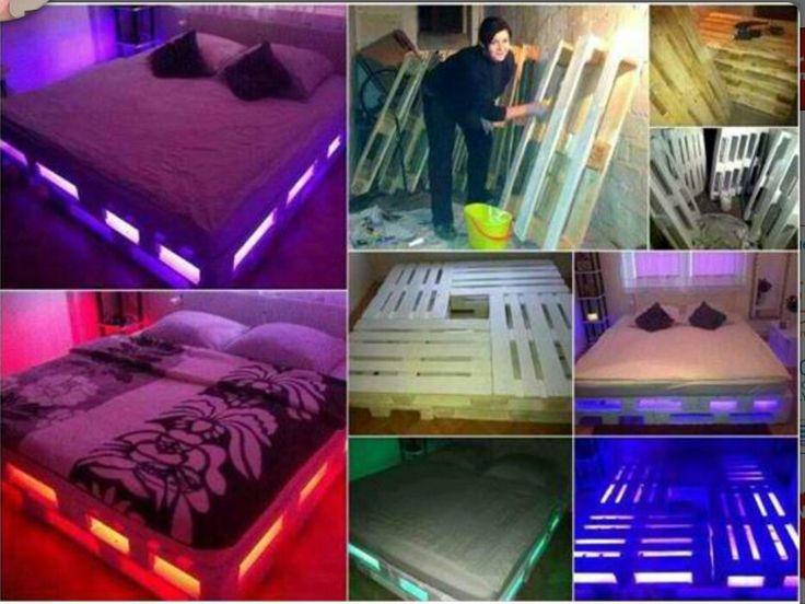 Pallet Bed Frames With Lights