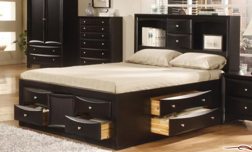 Phoenix Queen Size Bed Frame With Storage Drawers
