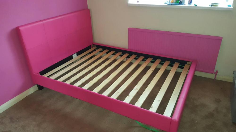 Pink Bed Frame Double