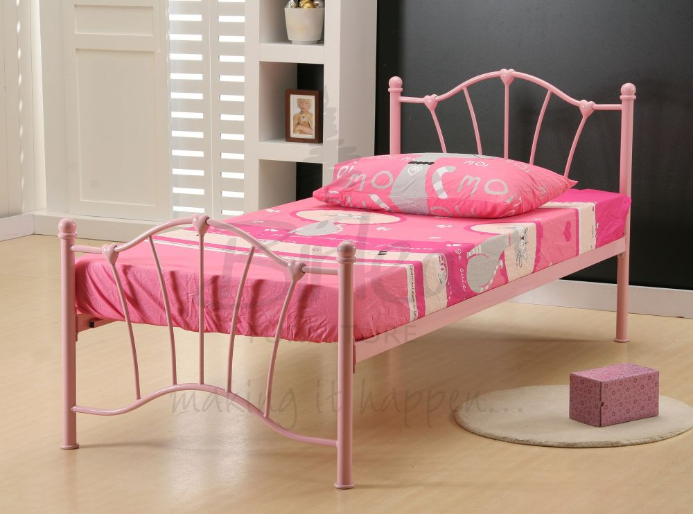 Pink Metal Bed Frame