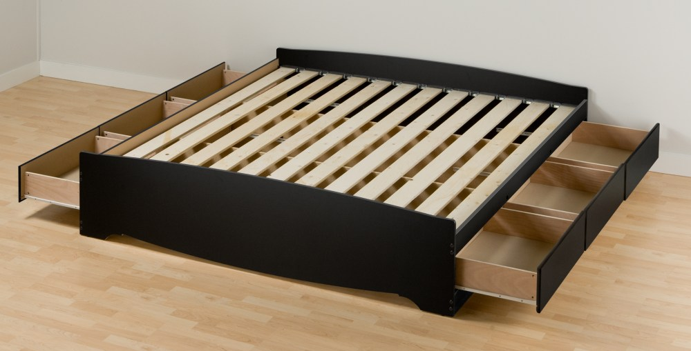 Platform Bed Frame King With Drawers