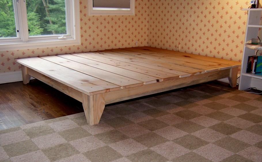 Platform Bed Frame King Wood