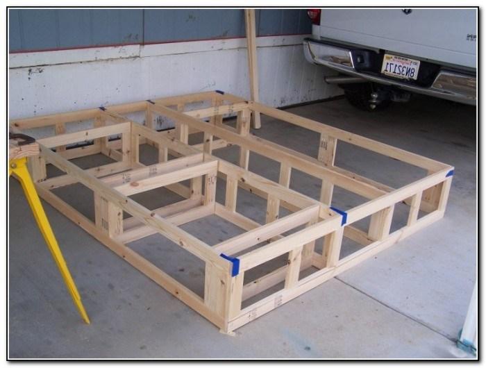 Platform Bed Frame Plans King