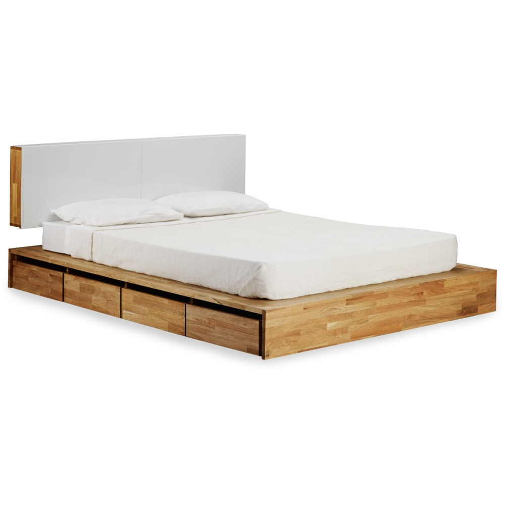 Platform Bed Frame With Upholstered Headboard