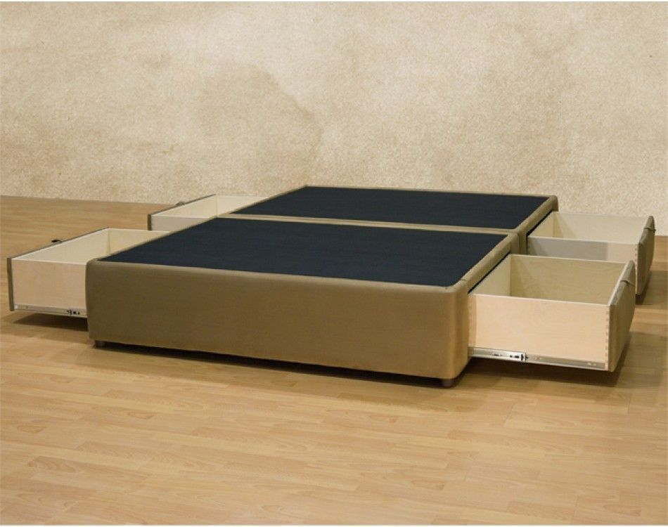Platform King Bed Frame With Storage