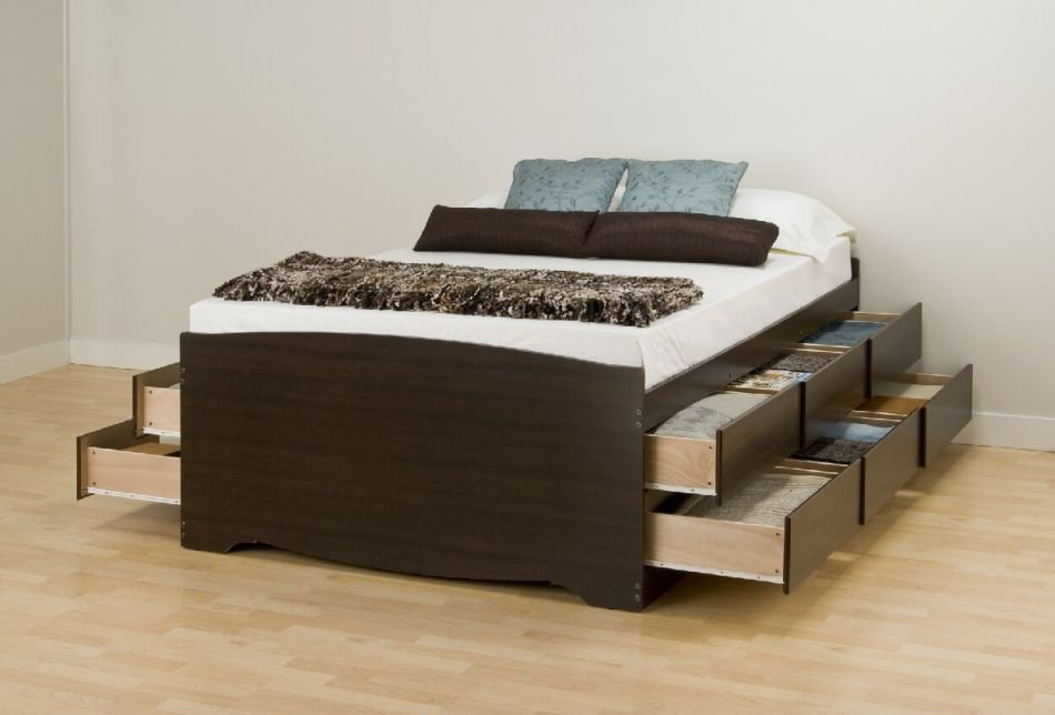 Platform Queen Bed Frame With Storage