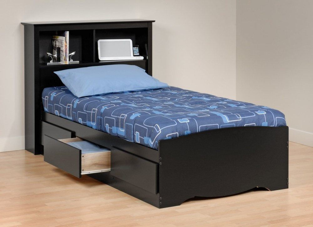 Platform Twin Bed Frame With Storage
