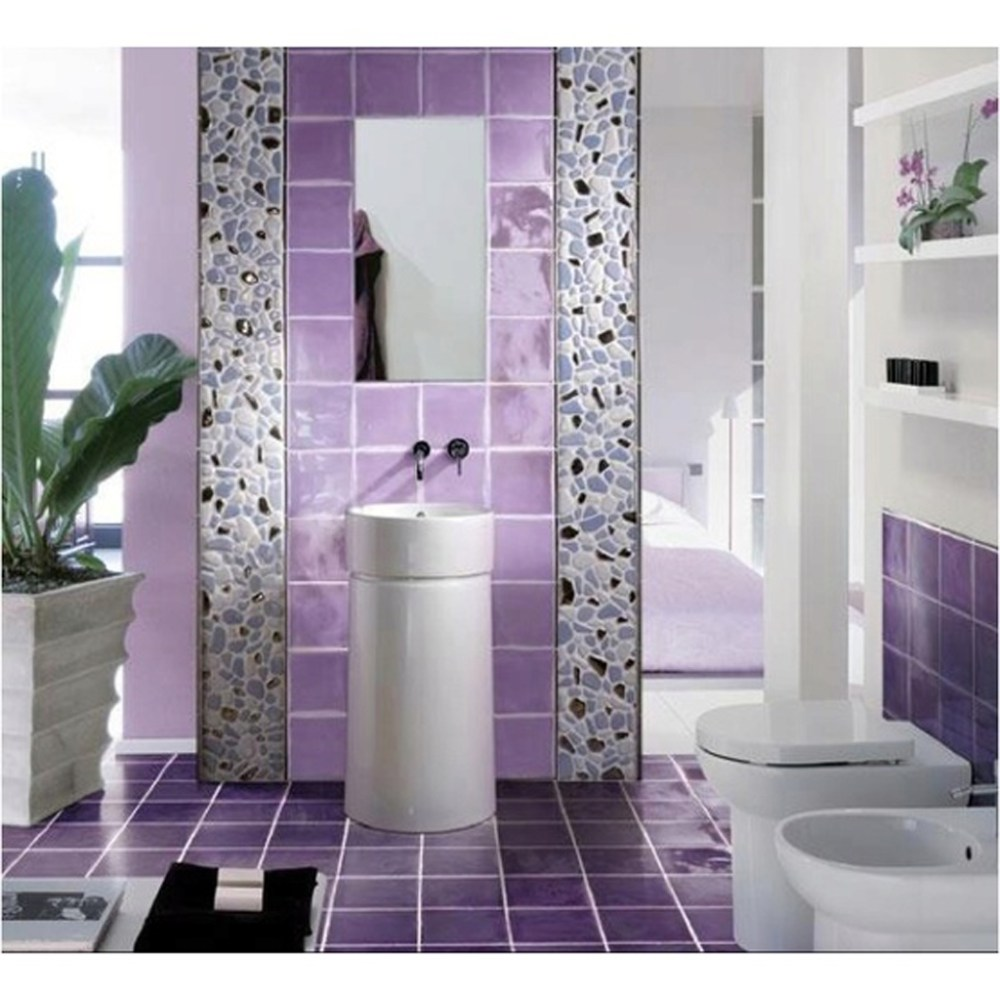 Purple Bathroom Design Ideas