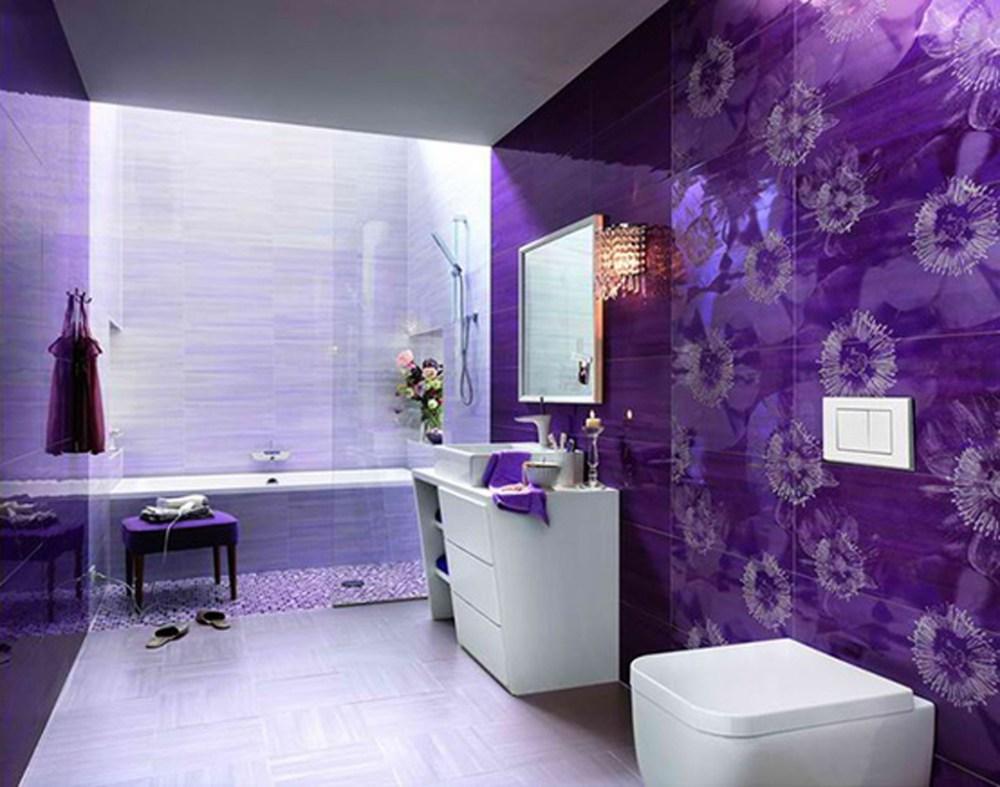 Purple Bathroom Paint Ideas
