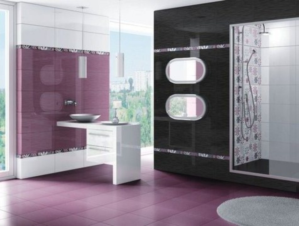 Purple Gray Bathroom Ideas