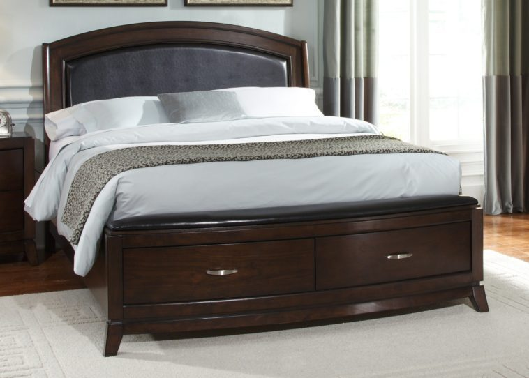 Queen Bed Frame Dark Wood
