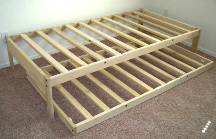 Queen Bed Frame With Twin Trundle
