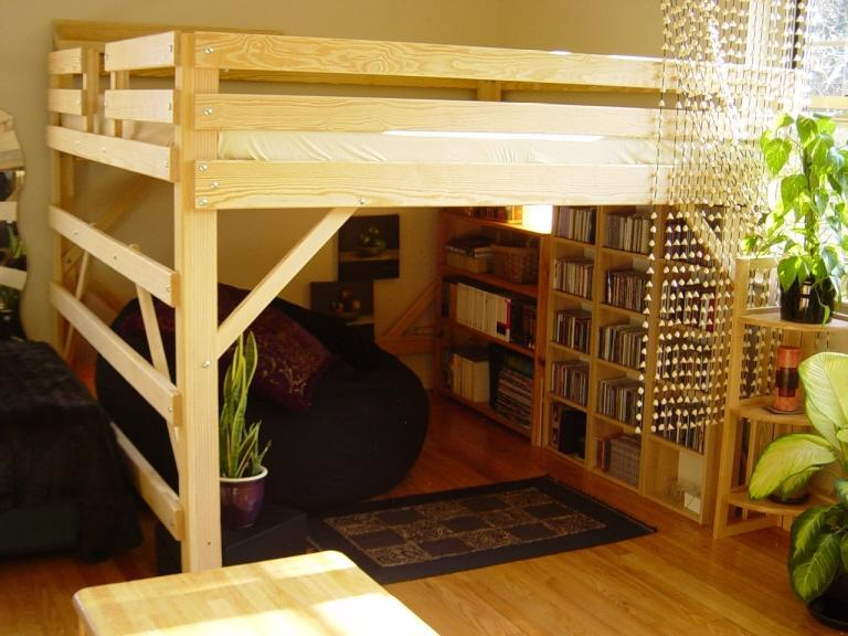 Queen Loft Bed Frame
