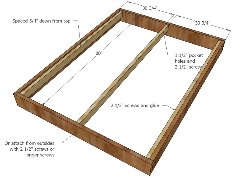 Queen Size Bed Frame Build