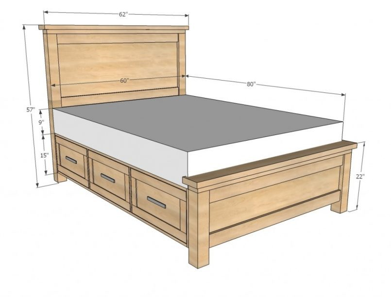 Queen Size Bed Frame Dimensions Malaysia