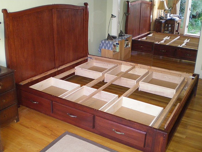 Queen Size Bed Frame Made From Pallets