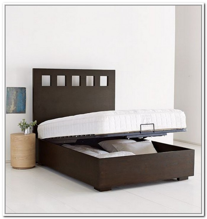 Queen Size Bed Frame With Storage Underneath