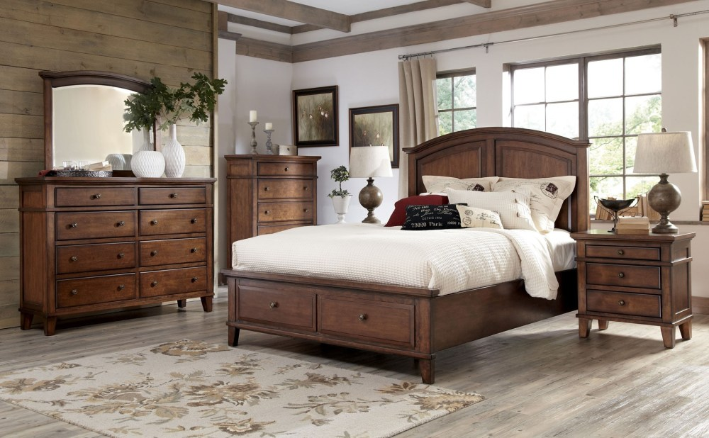 Queen Size Cherry Wood Bed Frame