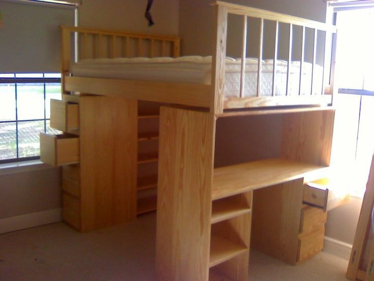 Queen Size Loft Bed Frame