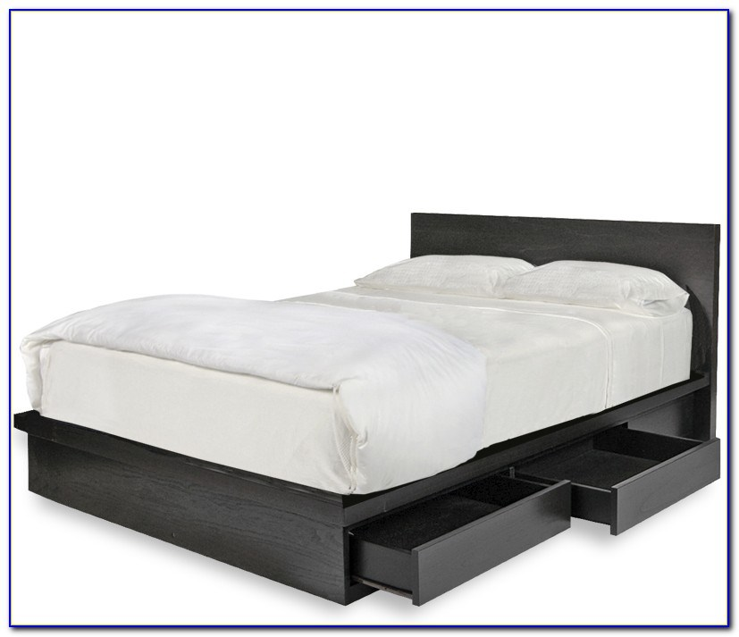 Queen Size Platform Bed Frame With Storage Plans