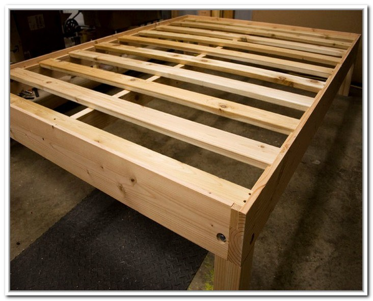 Queen Size Storage Bed Frame Plans
