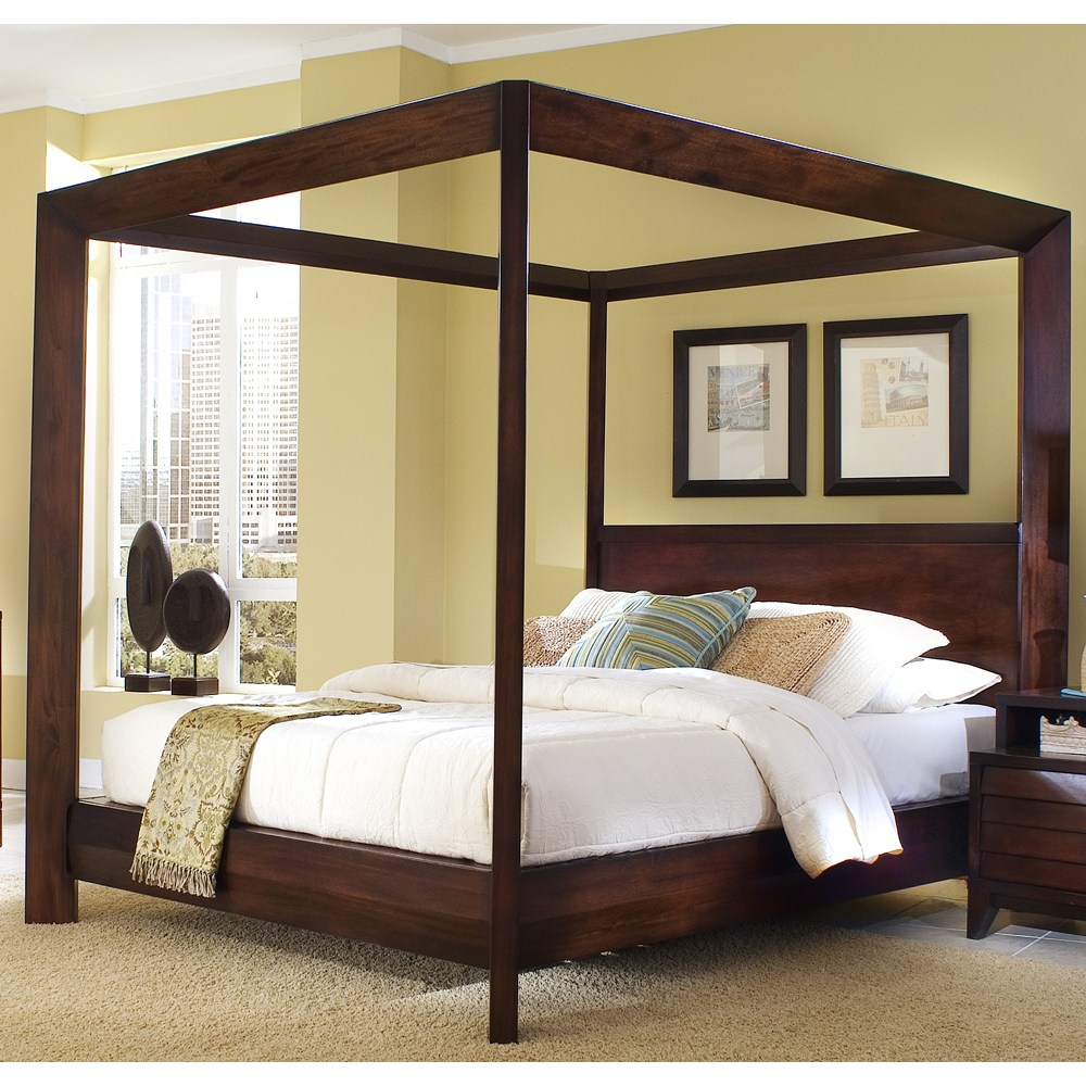 Queen Size Wood Canopy Bed Frames
