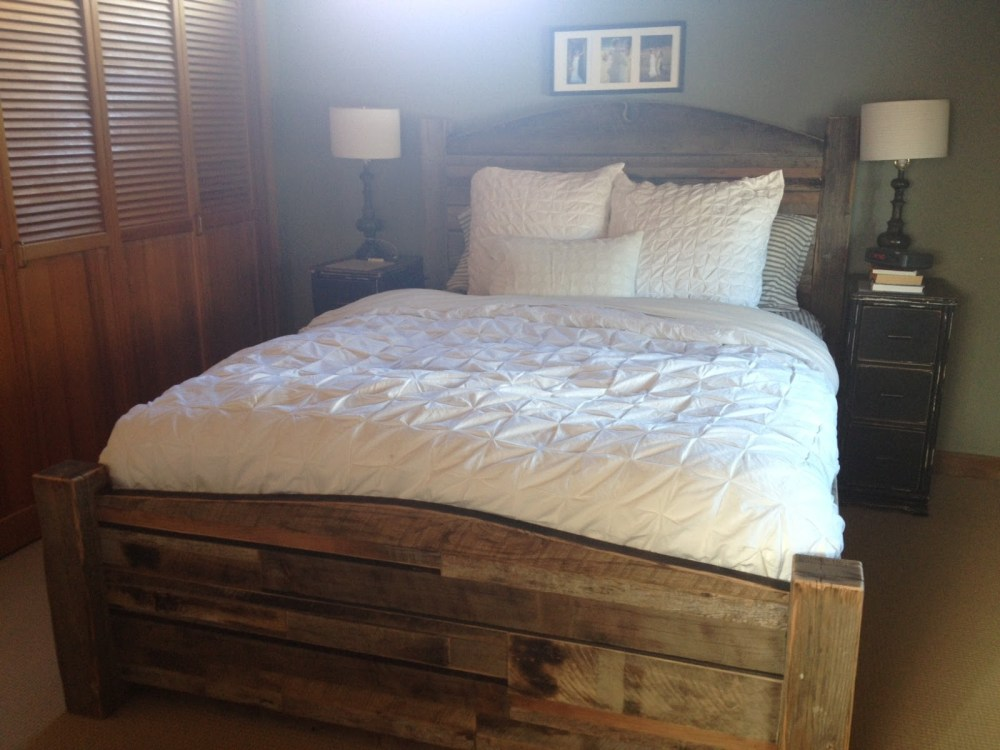 Reclaimed Wood Bed Frame Diy