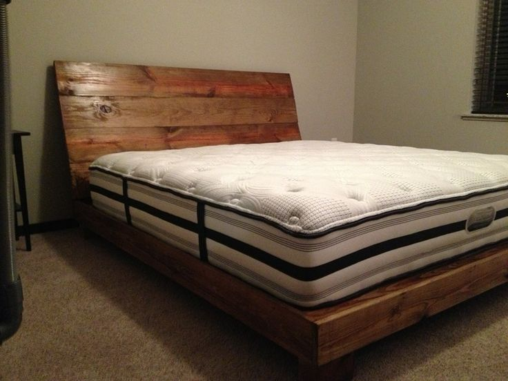 Reclaimed Wood Bed Frame King