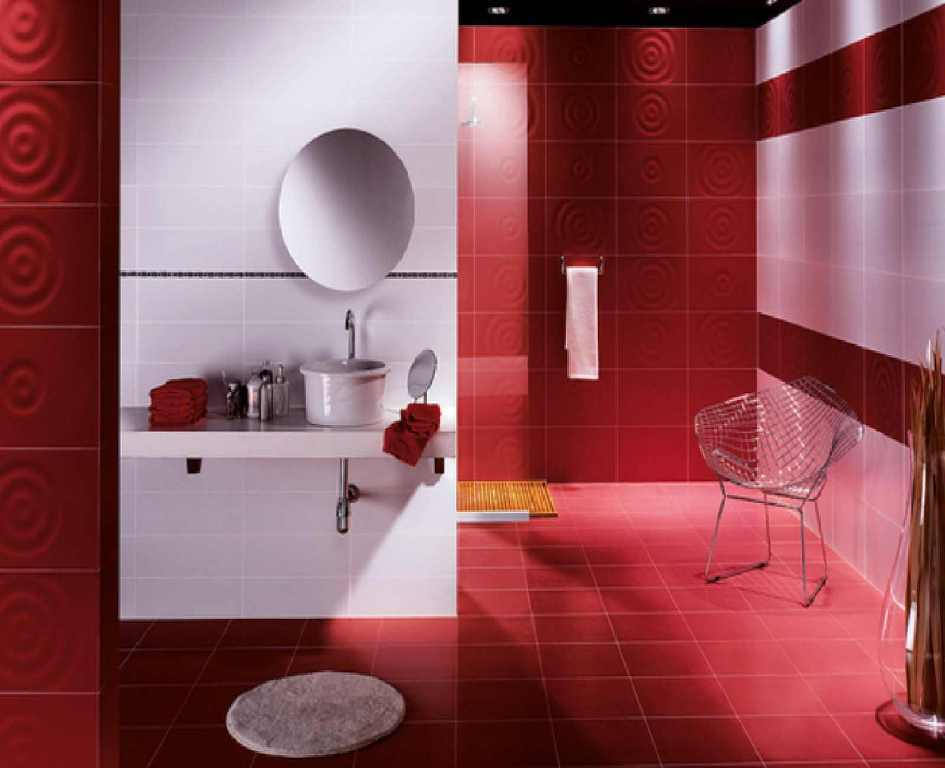 Red And Tan Bathroom Ideas
