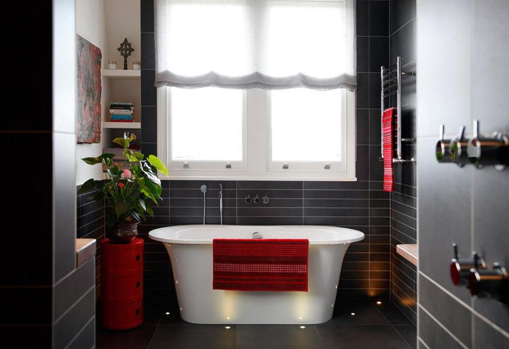 Red Tile Bathroom Ideas