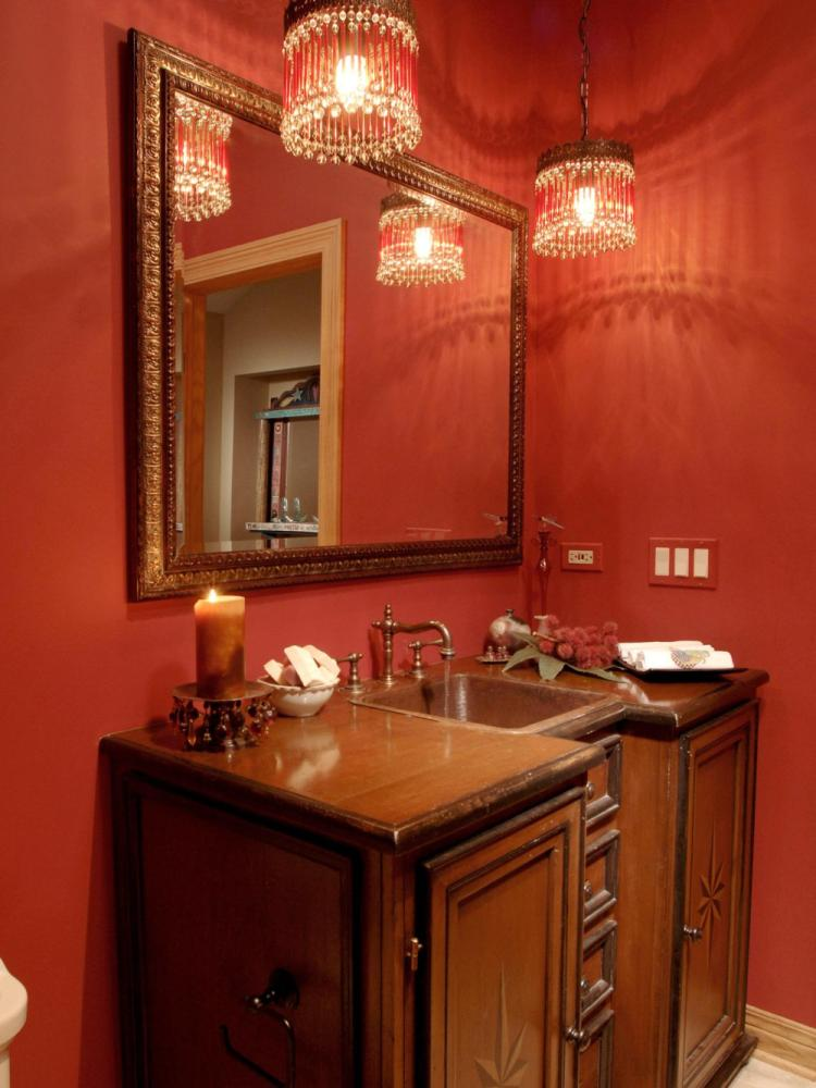 Red Wall Bathroom Ideas