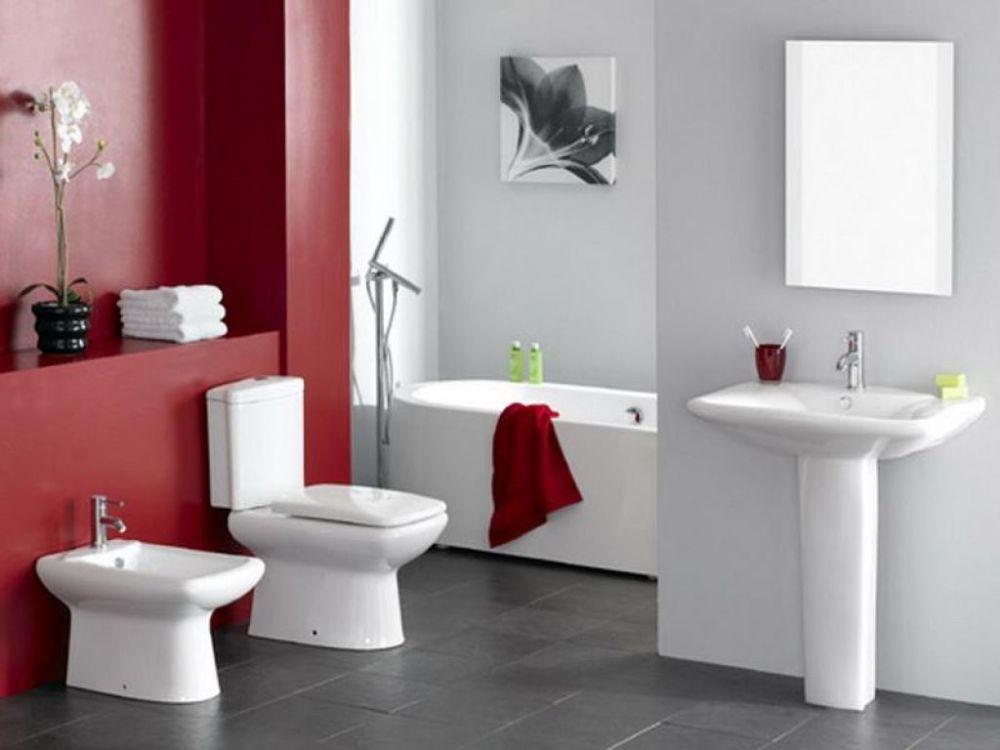 Red White Bathroom Ideas