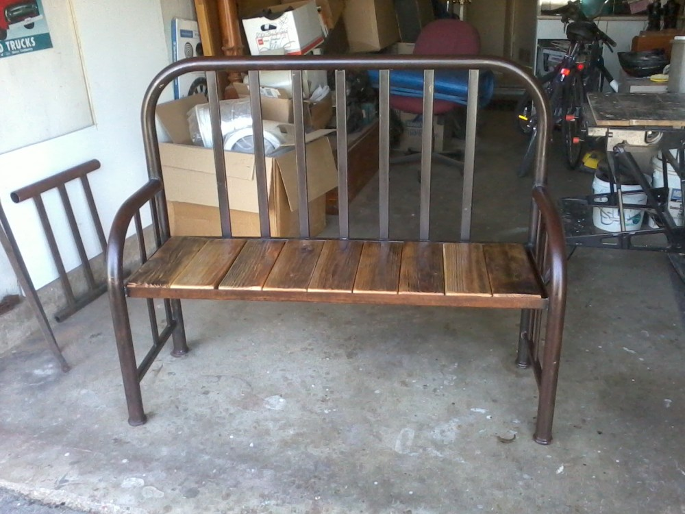 Repurposed Twin Bed Frame