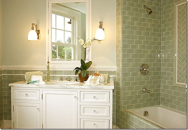Retro Bathroom Ideas Subway Tile