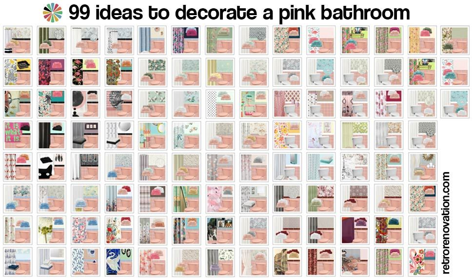 Retro Pink Bathroom Ideas
