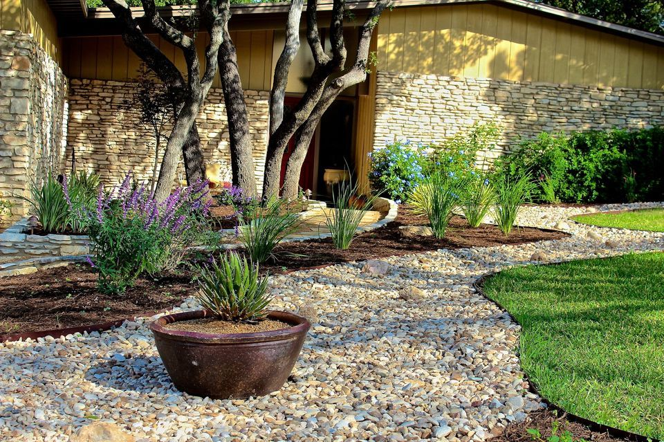 River Rock Garden Design Ideas