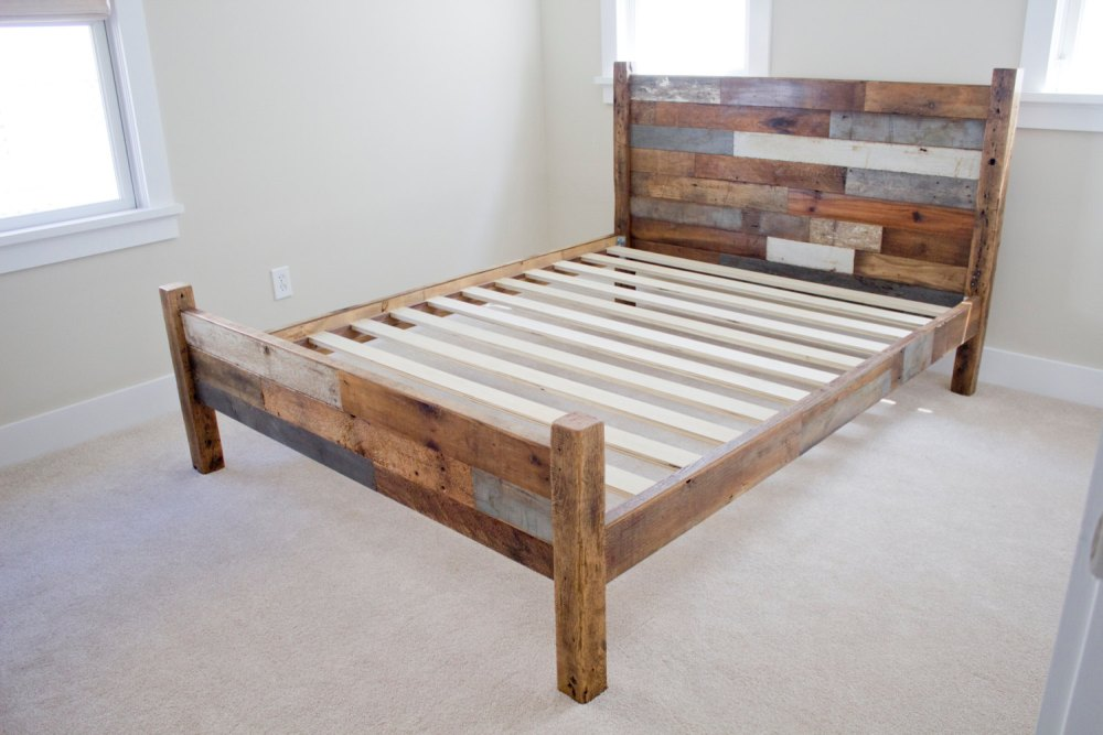 Rustic Bed Frame Queen