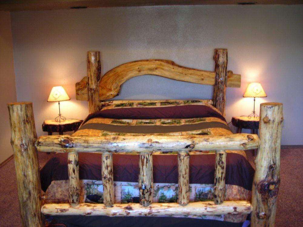 Rustic Log Bed Frame Plans