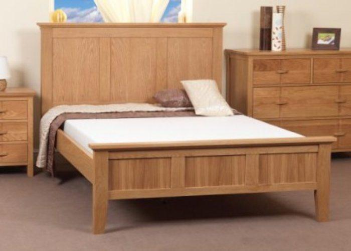 Rustic Oak Wooden Bed Frame