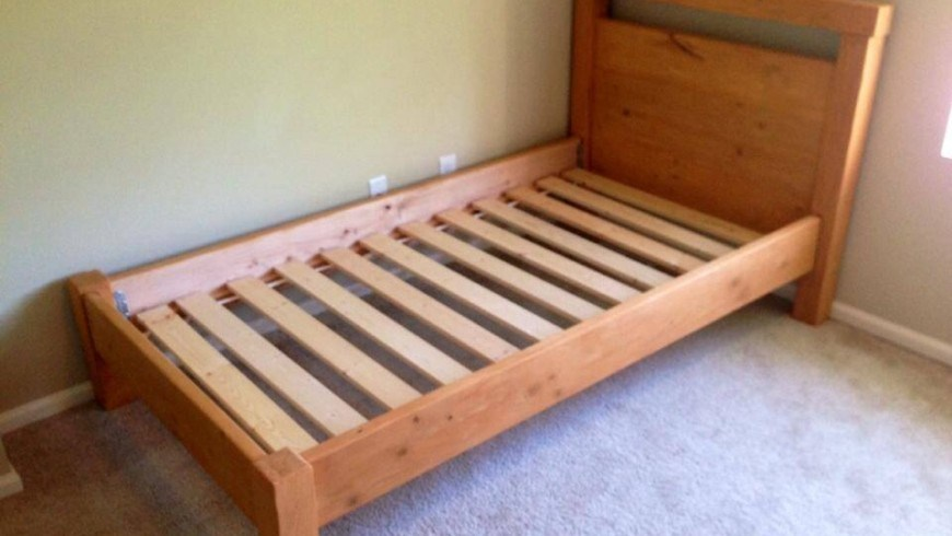 Rustic Twin Bed Frame