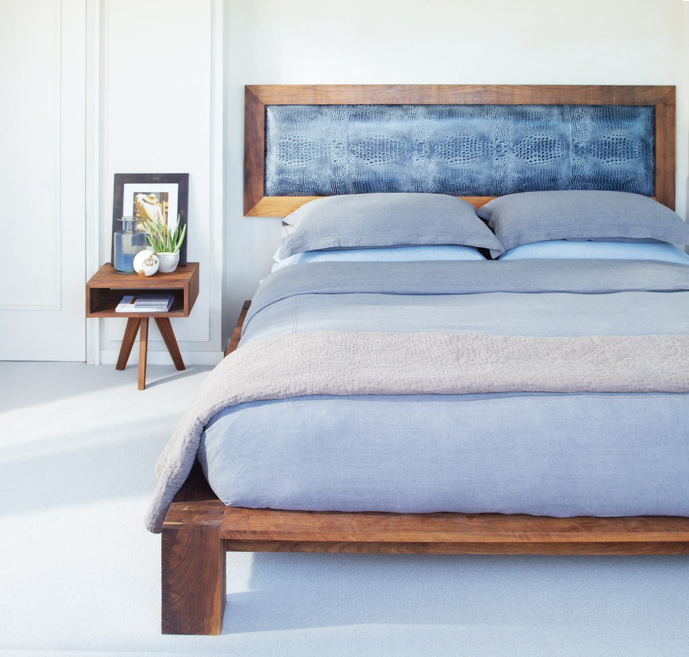 Rustic White Wood Bed Frame