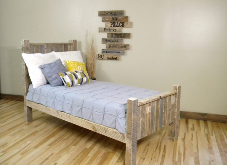 Rustic Wood Full Bed Frame