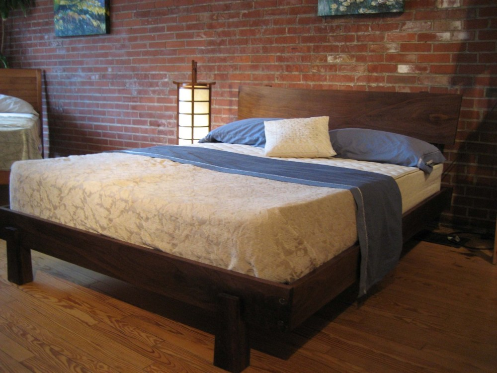 Rustic Wood Post Bed Frames