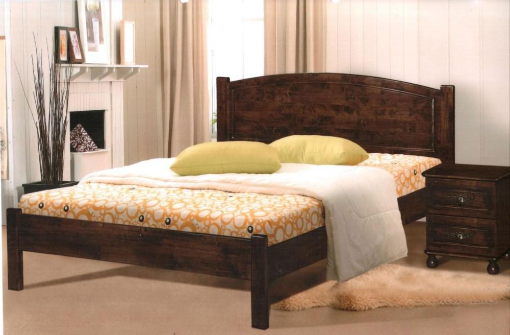 Rustic Wood Queen Bed Frame