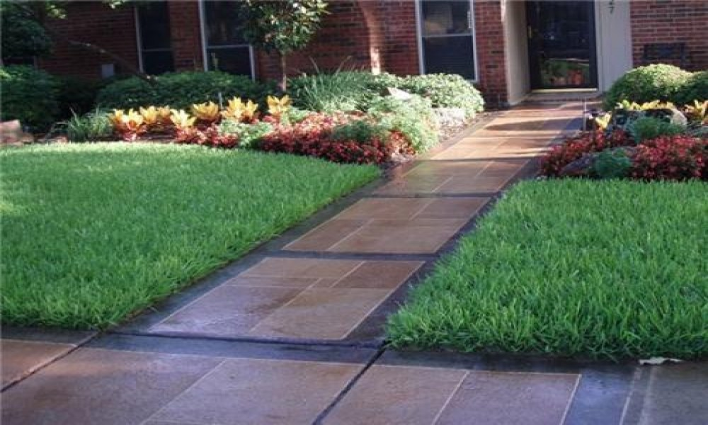 Sidewalk Landscaping Images