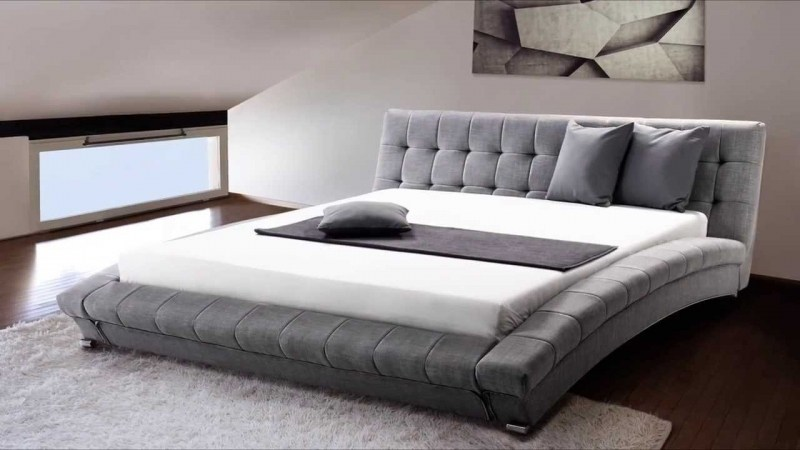 Sienna Grey Upholstered Bed Frame
