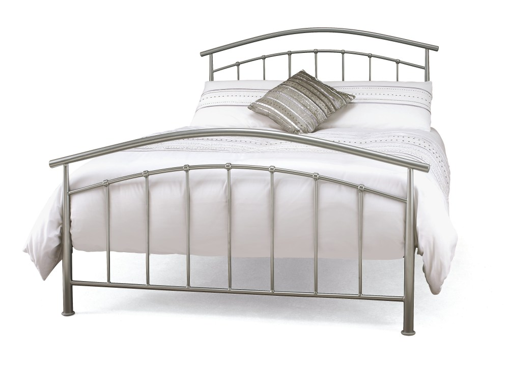 Silver Bed Frame Double
