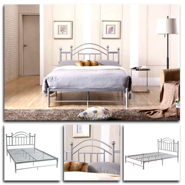 Silver Bed Frame Full